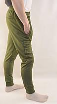 Штани спортивні чоловічі звужені яскраві трикотажні Nike - тканина лакоста, фото 2