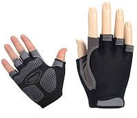 Перчатки велосипедные Huwai гелевые без пальцев Black M