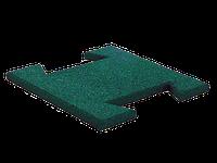 Резиновая плитка-пазл 20 мм (зеленая)