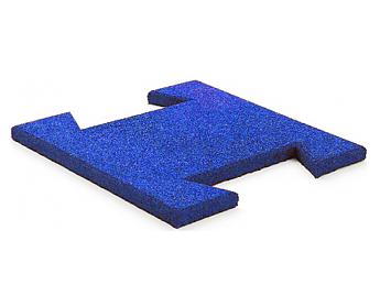 Резиновая плитка-пазл 20 мм (синяя)