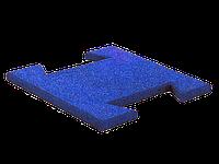 Резиновая плитка-пазл 20 мм (синяя), фото 1