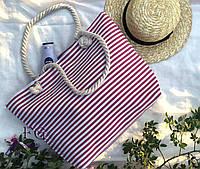 Сумка пляжная в полоску, фото 1