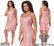 Нарядное кружевное платье на праздник большой размер 50,52,54,56