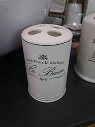 Стакан для зубных щеток 11.5 см фарфоровый
