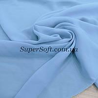 Ткань шифон голубой