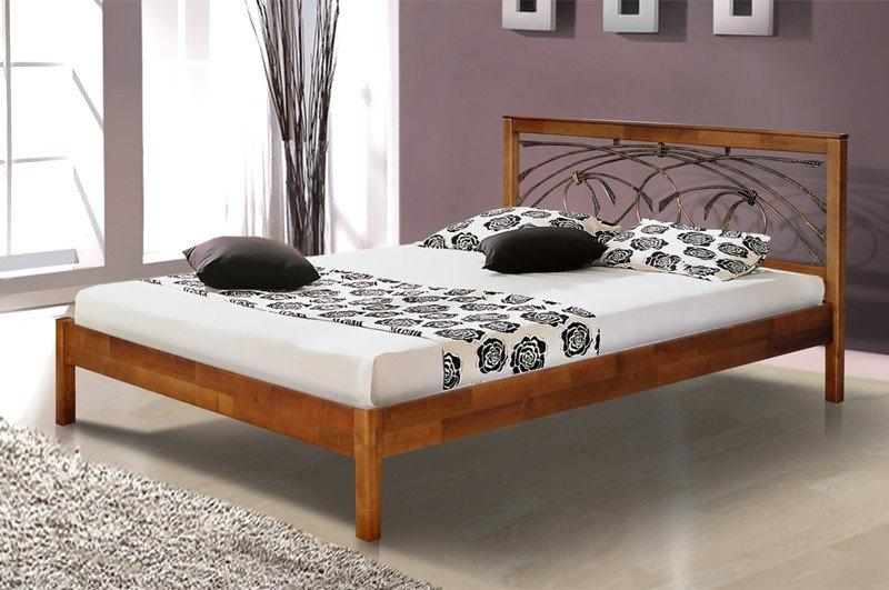Двуспальная кровать Микс Мебель Карина 1600*2000 Тёмный орех