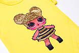 Футболка для девочки р.98,104,110,122,128 желтая SmileTime Doll Queen Bee, фото 3