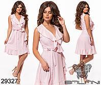 Платье стильное на запах в горох в расцветках  50454, фото 1