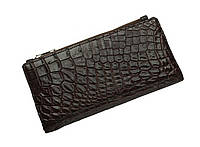 Кошелек из кожи крокодила на молнии Ekzotic Leather Коричневый (cw 93), фото 1