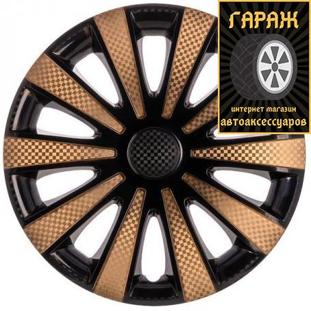 Ковпаки R14 Star GMK Super Black Gold (карбон)