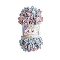 Alize Puffy Fine Color пряжа для вязания пальцами.