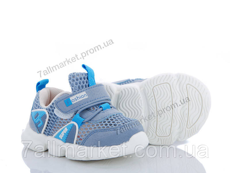 b96ae01e Кроссовки детские модные Лето E08 blue (6 пар р.16-20)