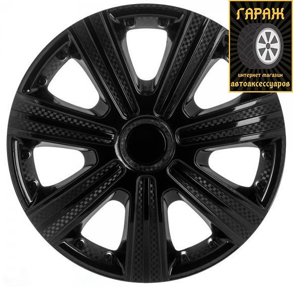 Колпаки R15 Star DTM Black карбон