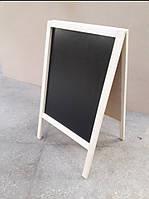 Штендер, рекламная доска, меловая, мимоход, спотыкач, Реклама для вашего бизнеса. Белая рамка.
