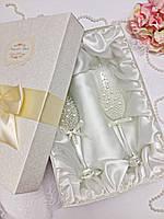 Индивидуальная коробка для свадебных бокалов с именами (белая)