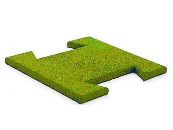 Резиновая плитка-пазл 20 мм (желтая)