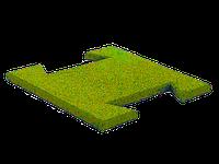Гумова плитка-пазл 20 мм (жовта)