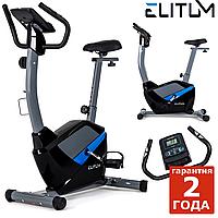 Велотренажер для фитнеса Elitum RX500 black ,Новое,Электромагнитная,Вес маховика 9 кг, Вертикальный, 55, BA100, 26,5, 120, 90