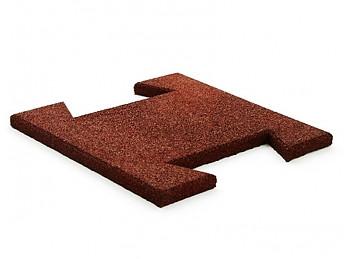 Гумова плитка-пазл 20 мм (коричнева)