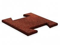 Резиновая плитка-пазл 20 мм (коричневая)