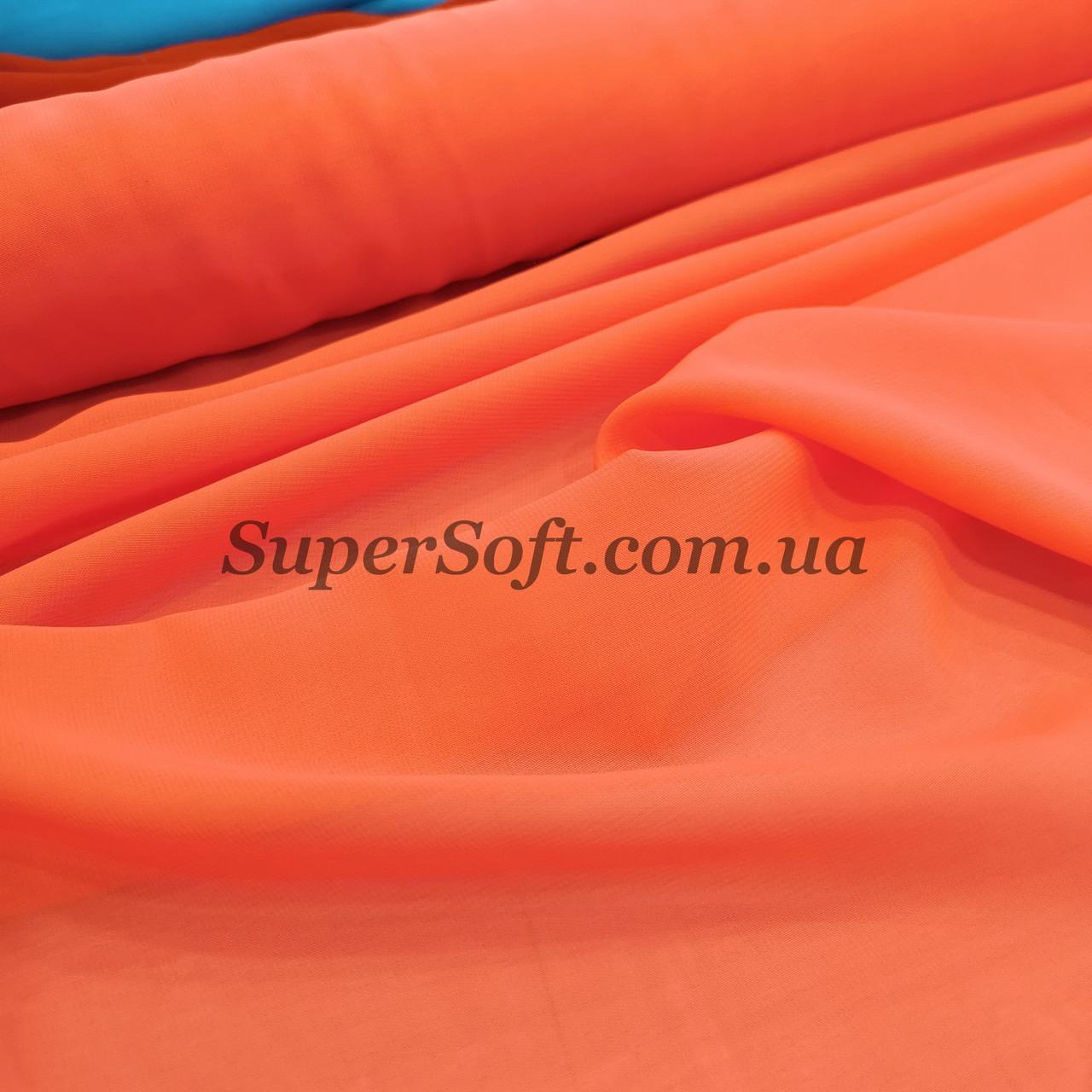Ткань шифон ярко-оранжевый