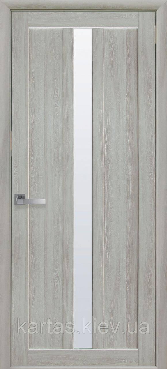 Дверное полотно Марти Ясень патина со стеклом сатин