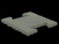 Резиновая плитка-пазл 20 мм (серая)