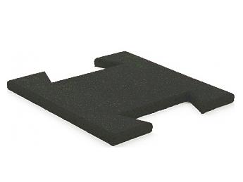 Гумова плитка-пазл 20 мм (темно-сіра)