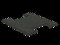 Резиновая плитка-пазл 20 мм (темно-серая)