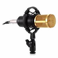 Комплект Конденсаторный микрофон ZEEPIN BM-800 BLACK GOLD + Звуковая карта DYNAMODE C-MEDIA 7.1