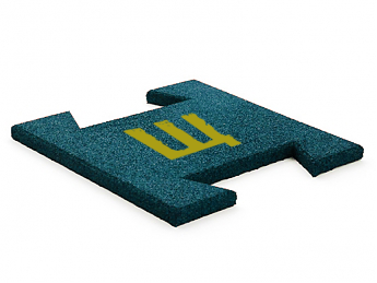 Гумова плитка-пазл 20 мм (з логотипом)
