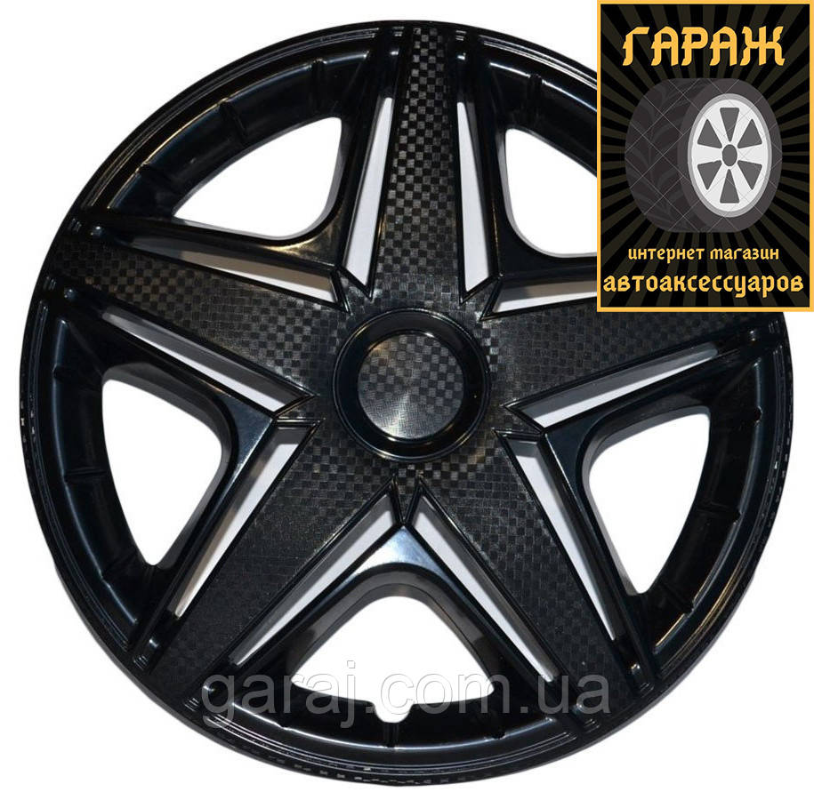 Колпаки R15 Star NHL Black карбон