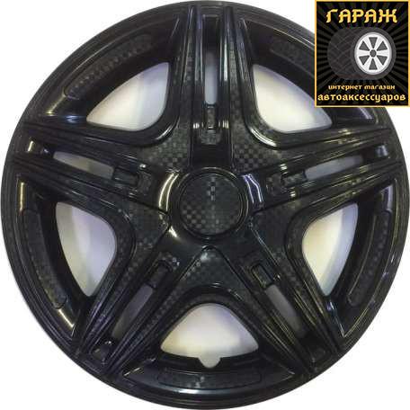 Колпаки R15 Star Дакар Black карбон