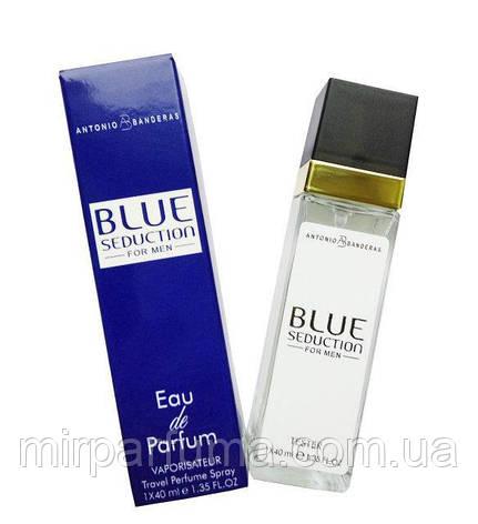 Мужской парфюм реплика тестер Antonio Banderas Blue Seduction - Travel Perfume 40ml, фото 2