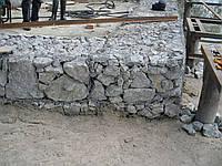 Укрепление берега реки габионами. Подпорные стены.