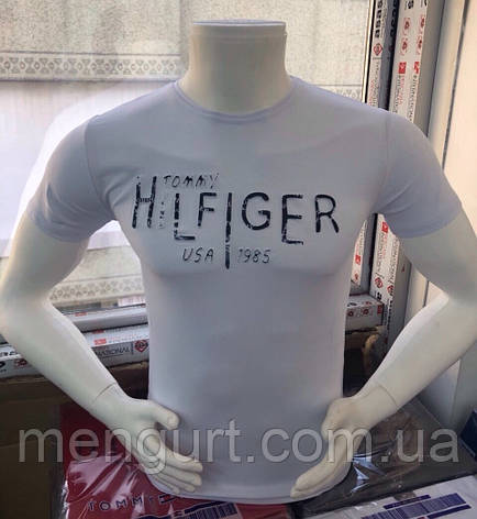 Футболка мужская молодежная  хилфигер Hilfiger 3d Турция, фото 2