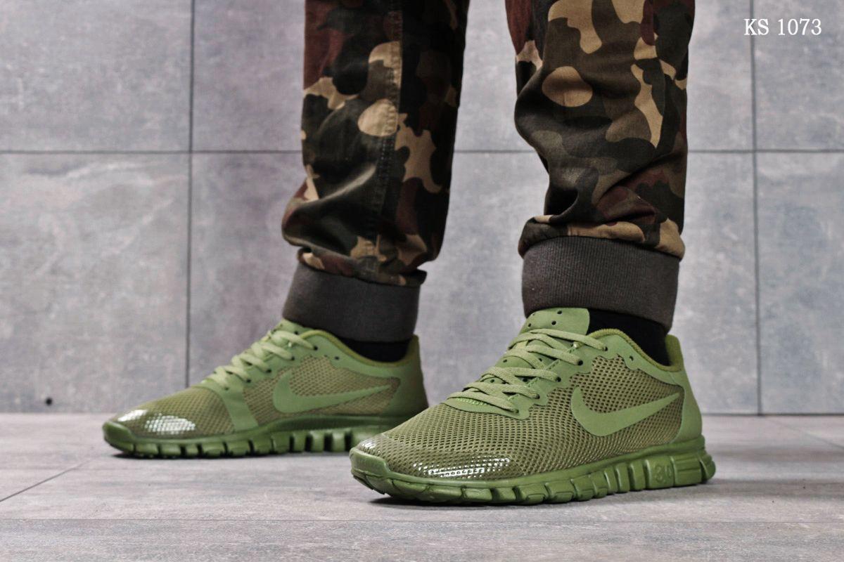 Мужские кроссовки Nike Free 3.0 (зеленые)