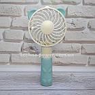 """Ручной мини-вентилятор на аккумуляторе Small bear Blue. Портативный мини вентилятор """"Мишка"""" Голубой, фото 4"""