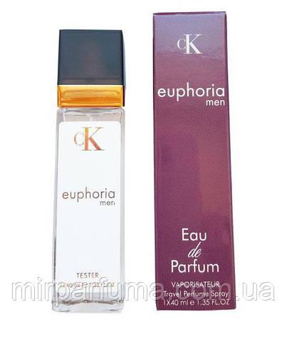 Мужской парфюм реплика тестер Calvin Klein Euphoria Men - Travel Perfume 40ml, фото 2