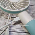 """Ручной мини-вентилятор на аккумуляторе Small bear Blue. Портативный мини вентилятор """"Мишка"""" Голубой, фото 7"""