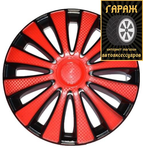 Колпаки R15 Star GMK Red Black карбон
