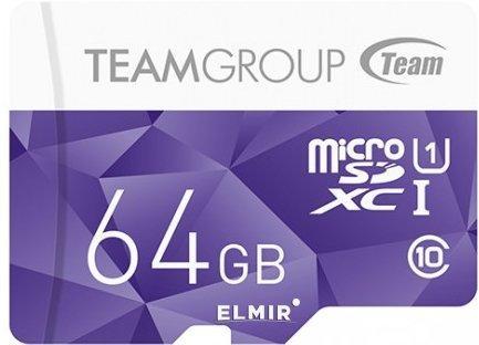 TEAM Color micro SDXC 64 GB UHS-I U1 Class 10 (80MB/с) с адаптером Purple (TCUSDX64GUHS41)