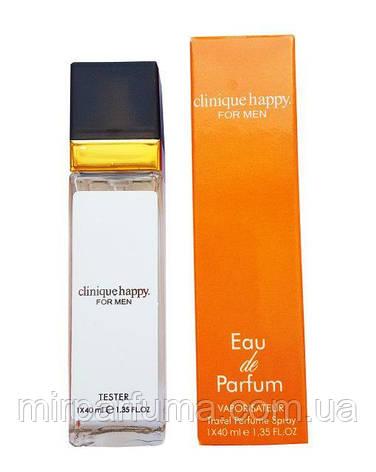 Мужские парфюмы тестер реплика Clinique Happy For Men - Travel Perfume 40ml, фото 2