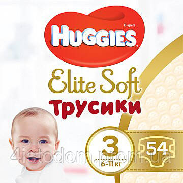 Трусики Huggies elite soft pants 3 (6-11кг) 54шт