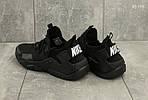 Мужские кроссовки Nike Huarache (черные), фото 3
