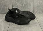 Мужские кроссовки Nike Huarache (черные), фото 2