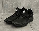 Мужские кроссовки Nike Huarache (черные), фото 4