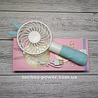 """Ручной мини-вентилятор на аккумуляторе Princess Rabbit Blue. Портативный мини вентилятор """"Кролик"""" Голубой, фото 3"""