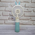 """Ручной мини-вентилятор на аккумуляторе Princess Rabbit Blue. Портативный мини вентилятор """"Кролик"""" Голубой, фото 6"""