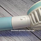 """Ручной мини-вентилятор на аккумуляторе Princess Rabbit Blue. Портативный мини вентилятор """"Кролик"""" Голубой, фото 8"""